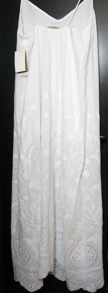 NWT ZARA Embroidered White Long Maxi Dress  Embroidery SIZE M Ref.0881/120 #ZARA #Sundress #Casual