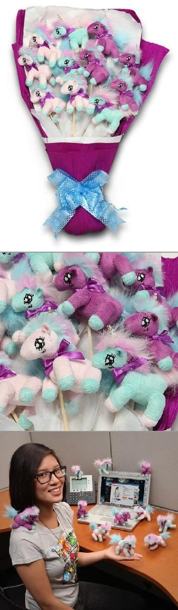 For those times when a simple flower arrangement just won't do, try gifting a Unicorn bouquet!