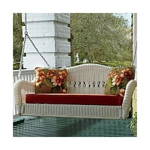 Saybrooke Resin Wicker Porch Swing   Seats 3 Comfortably. Love It! BOUGHT  IT!