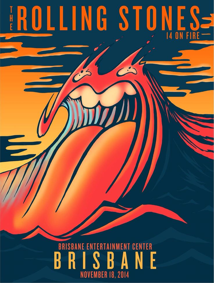 Pretty neat Rolling Stones tour poster