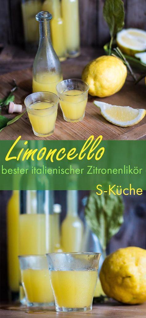 Die Sonne Italiens im Glas. Rezept für Limoncello - Italienischer Zitronenlikör ganz einfach selbstgemacht.