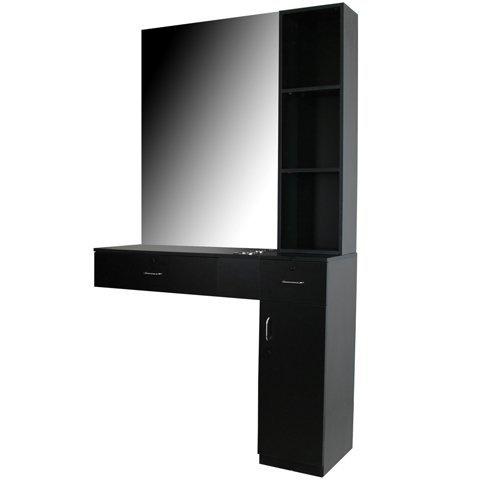 pearl black 3 piece salon styling station beauty equipment ws31blk by salon ca