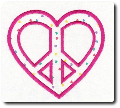 valentine applique peace sign by 8clawsandapaw on etsy 195 peace signsmachine embroidery designsappliquespeace