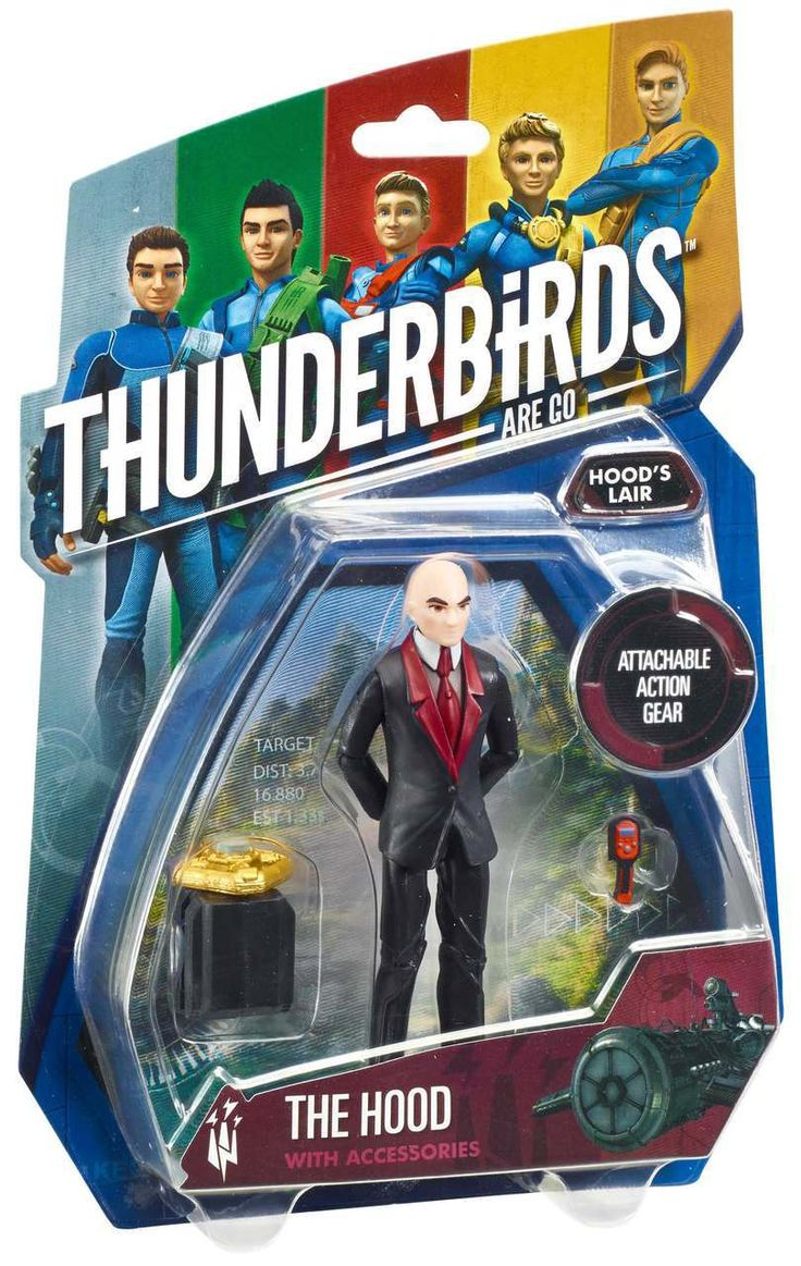 "Thunderbirds Toys 3.75"" Action Figure - The Hood 