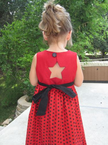 The Stargazer dress tutorial but you could use any design on the back and make this dress.