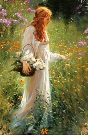 I go to the garden alone while the dew is still on the roses~Richard S Johnson