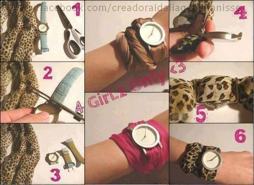 Faça uma pulseira moderna para o seu relógio