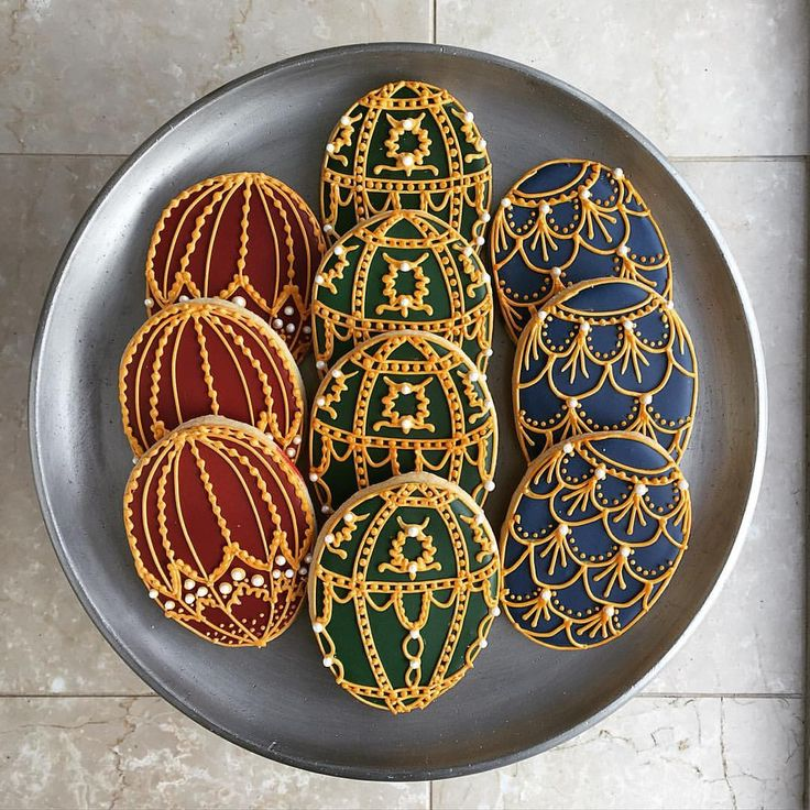 Faberge egg cookies, handmade in Toronto by finespuncakes.com