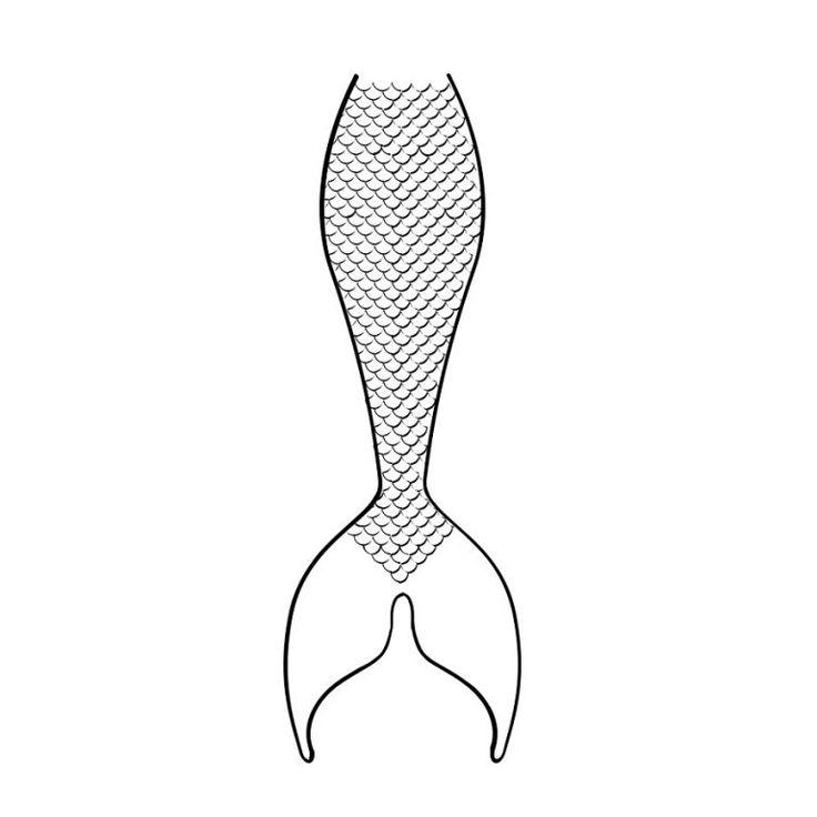 Mermaid Tail Coloring Page To Print | Mermaid tail ...