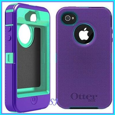 Otterbox iPhone 4S 4G Defender Case Blue Purple Sprint Verizon Valentine Gift