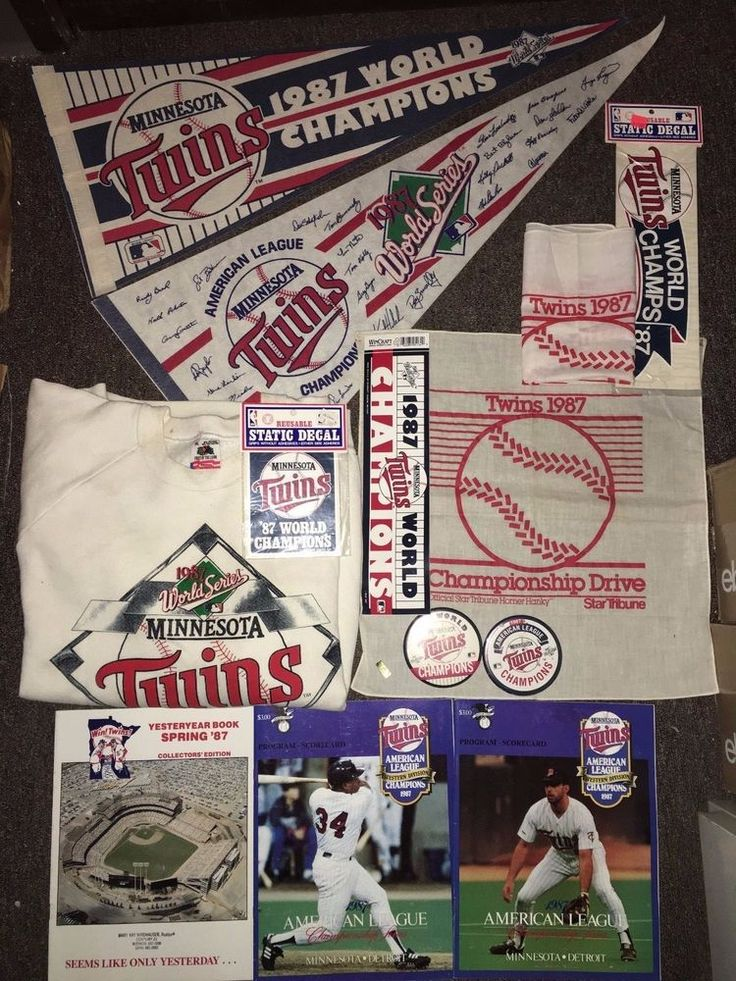 1987 World Series Champions Minnesota Twins Lot of 17