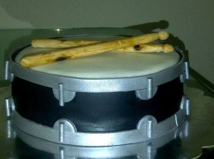 I Was Excited To Make A Drum Cake For A Drummer For The First Time The Sticks Are From A Mixture Of Gumpaste And Fondant Which I Hand Paint