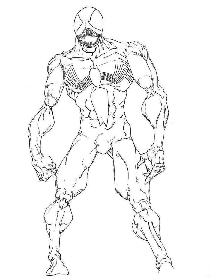 Venom Coloring Sheets | Desenhos para imprimir, Desenhos ...
