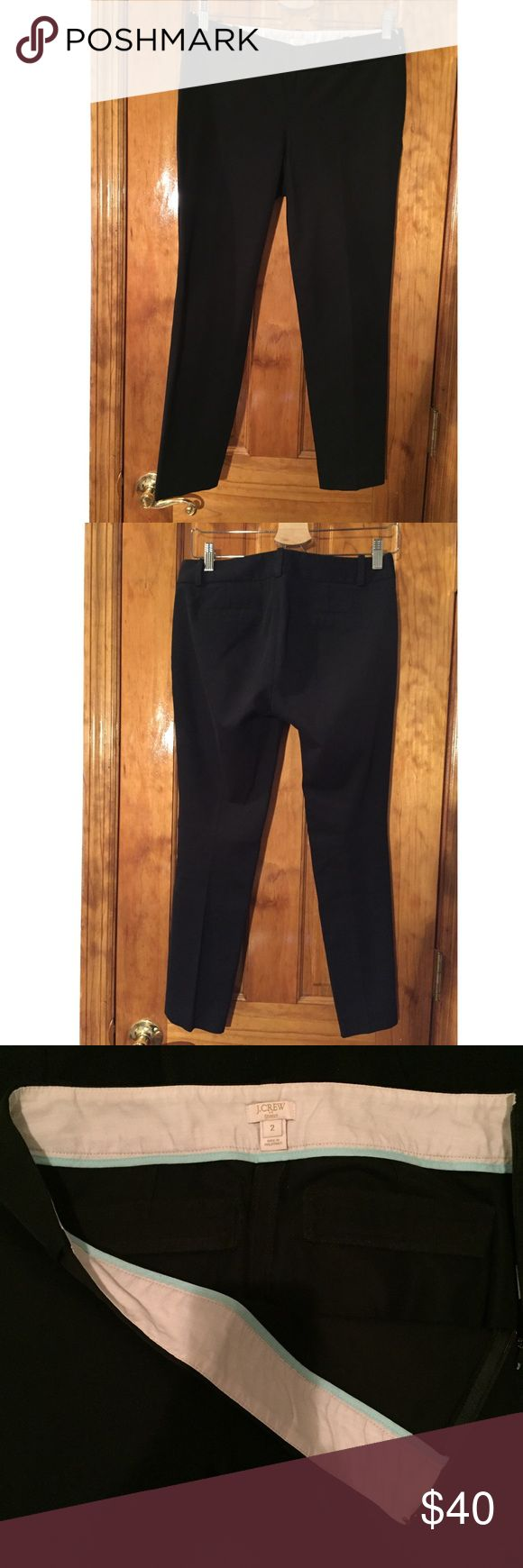 """J. Crew Black Minnie Stretch Pants 2 LIKE NEW J. Crew Black Minnie Stretch Pants // Size:2 // Waist:15"""" Inseam:25"""" // Condition: GREAT // Color: Black // Perfect for literally every occasion, work, weekend, party, art opening, networking, sunday brunch, monday meeting, happy hour...I mean. Best pair of pants you'll ever find anywhere! 15% off on bundles. I ship same-day from pet/smoke-free home. Buy with confidence. I am a top seller with close to 400 5-star ratings and A LOT of love notes…"""