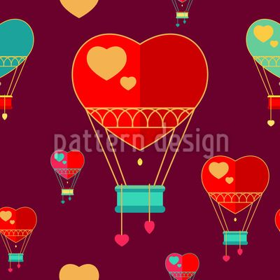Romantik Balloons Vector Ornament Vector Ornament by Elena Alimpieva at patterndesigns.com