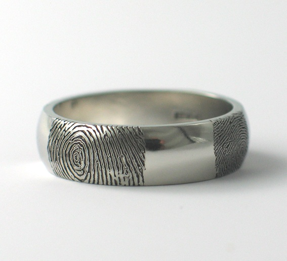 Multiple prints on a wedding ring