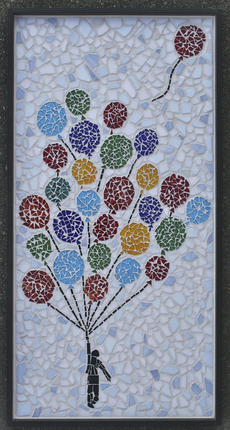 "18""x36"" auction project by John Hay 1st graders 2012. #auctionprojects #seattlemosaicarts #mosaics"