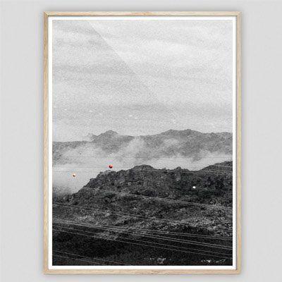 Schwarz Weiß Landschaftsposter Print, Kunst, Kollagen, Acrylbilder, Wandbilder, gerahmte Poster, ungerahmte Poster, Designbilder, Leinwände,  Alu-Dubonds, Geschenkideen jetzt online kaufen auf PURISD.de