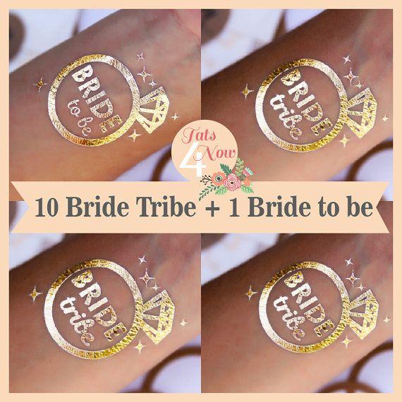 Set of 11 Diamond bachelorette party favor,bachelorette tattoo,team bride,bridal party,bridesmaid tattoo,bride,hens party, temporary tattoo