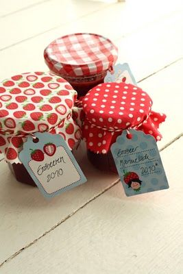 Adorable strawberry printable canning tags