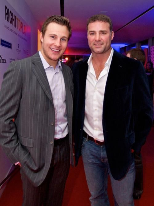 Luke Schenn and Eric Lindros   this picture makes my heart smile ... a lot !