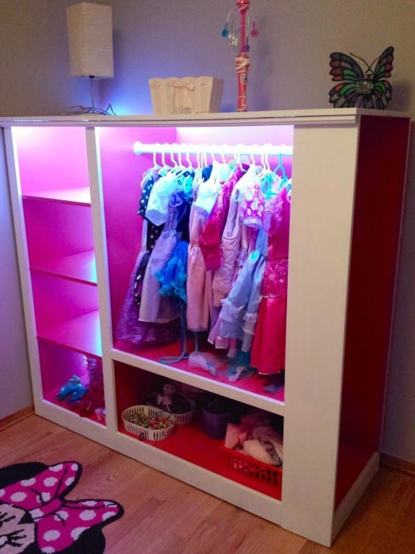When it was all finished, his little girls had the perfect princess dress-up station.