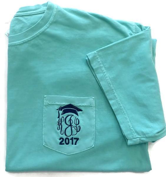 Short Sleeve 2017 Graduation Monogram Pocket Tee