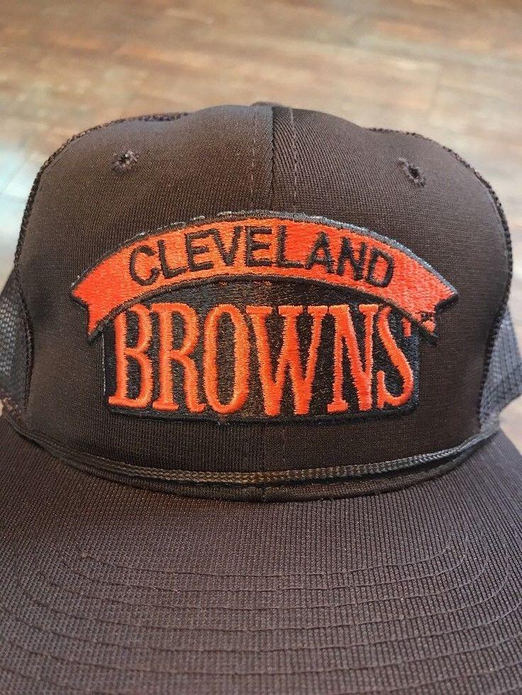 Vintage Cleveland Browns MacGregor Hat NFL Brown Snapback Cap  | eBay