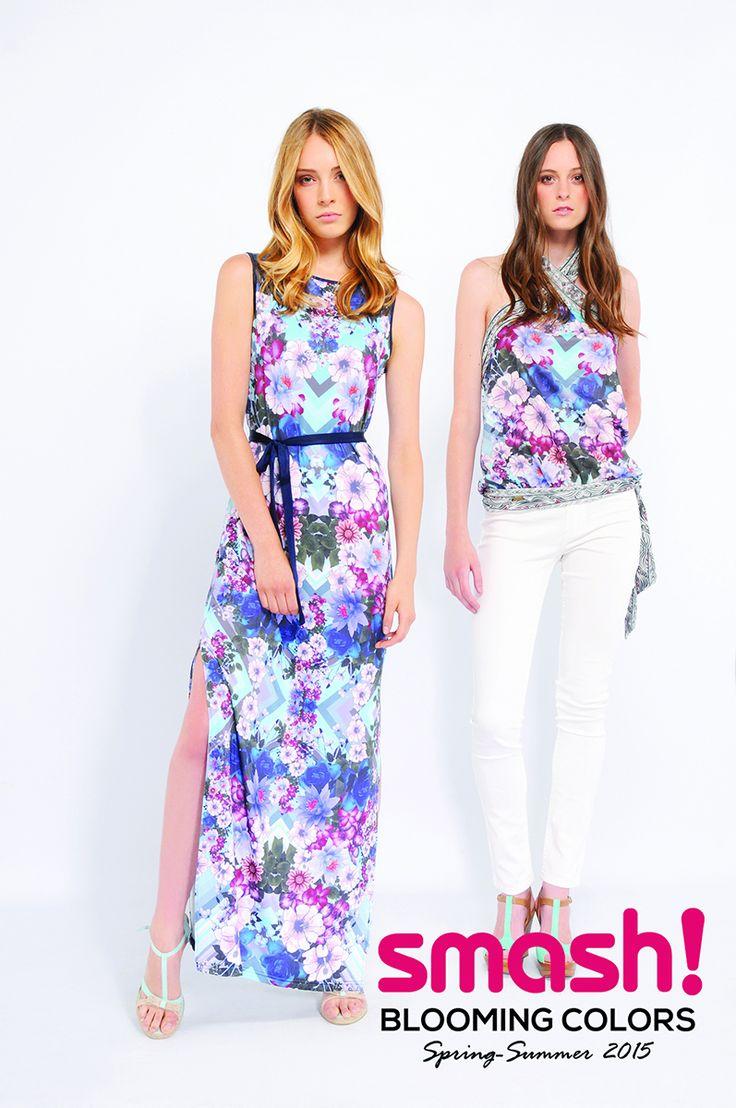 #summer #dress #smash #barcelona #flowers #purple