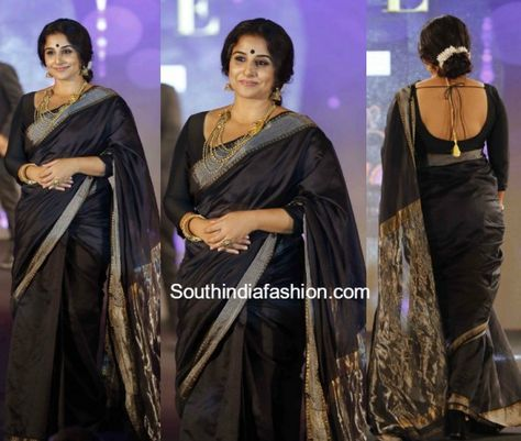 Vidya Balan in a black saree photo