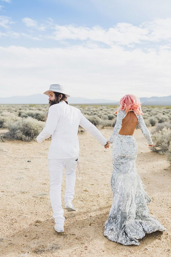 Get inspired by the fabulous couples' Vegas wedding adventure.