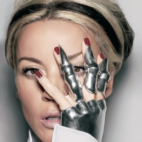 Daphne Guinness and armored glove