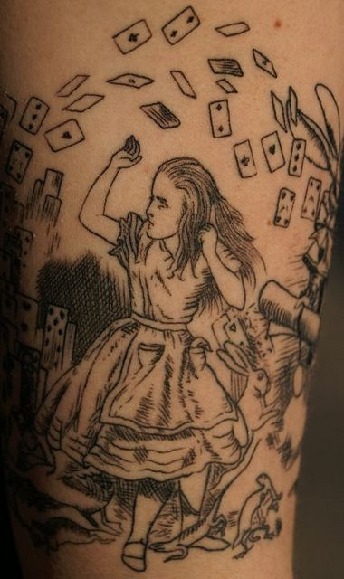Alice in wonderland tattoo by Southside Tattoo & Piercing, via Flickr