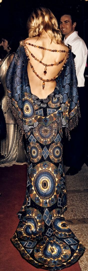 Jessica Stam ~ The Met Gala 2007  for BNO (big nights out) in Ibiza its gotta be 70's glam.