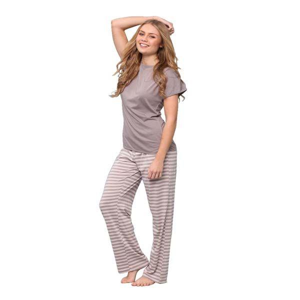 Zinc Tee and Striped Pant Set by Jethro and Jackson   Pyjamas.com.au