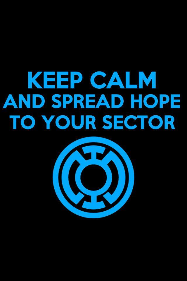 Keep Calm Blue Lantern Background by KalEl7.deviantart.com on @deviantART