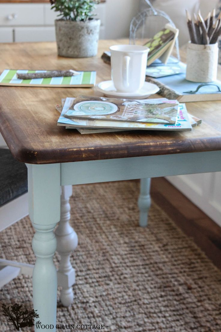 Tables greene s amish furniture part 2 - Two Toned Table