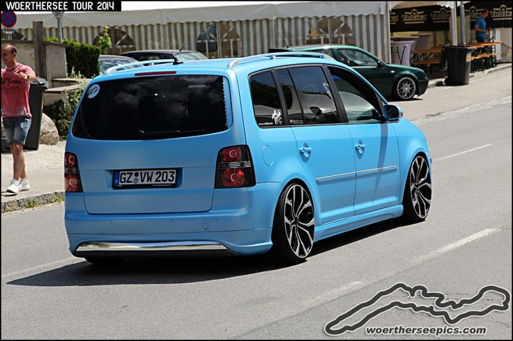 Matt blue VW Touran