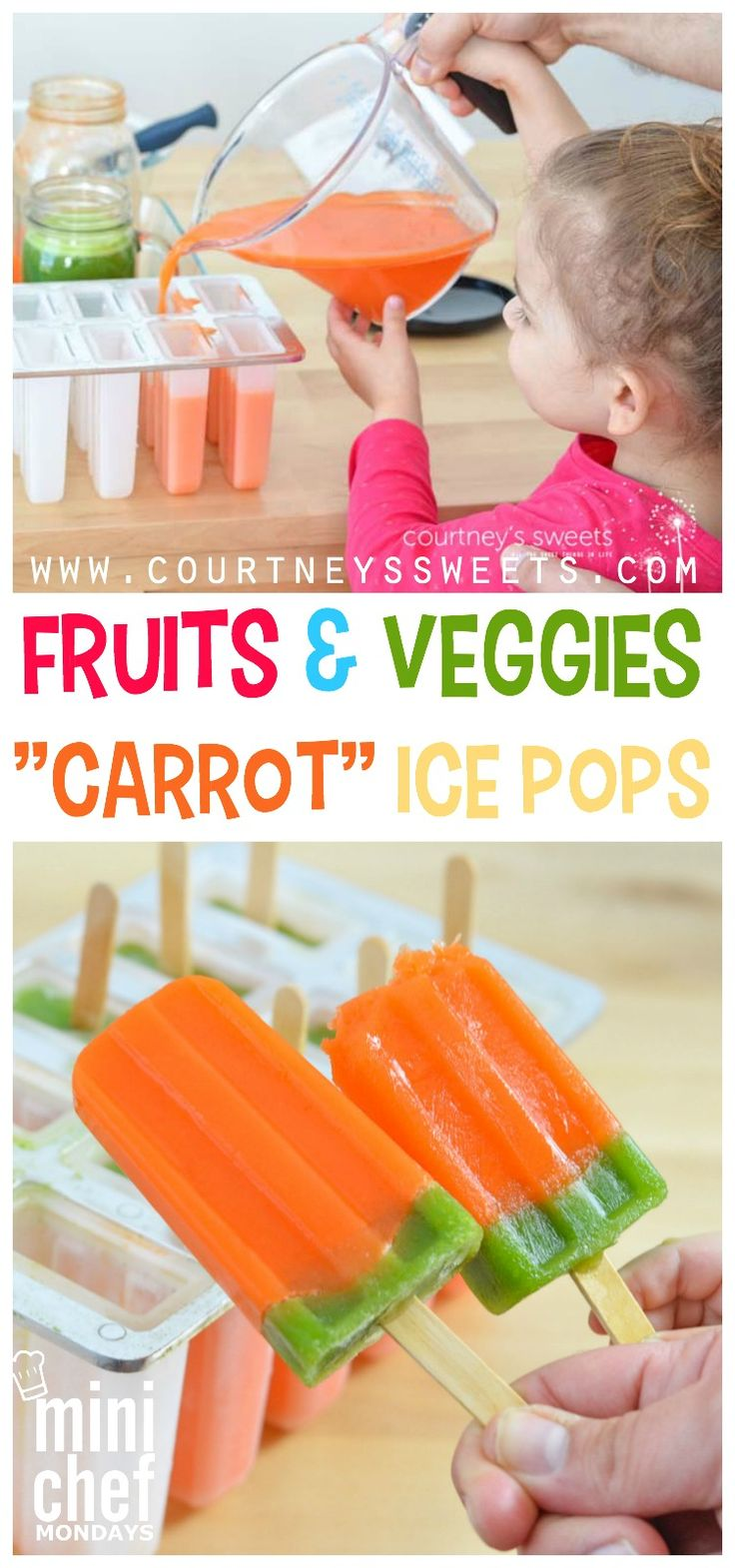 """Fun Fruits and Veggies """"Carrot"""" Ice Pops"""