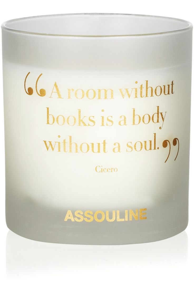 A candle. That smells. Like books. Perfect for the bookworm in all of us.