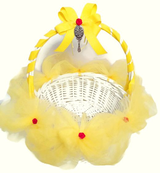 Belle Inspired Yellow Tutu Easter Basket This Belle inspired yellow tutu Easter basket was created with one of my favorite princess's in mind. A wh