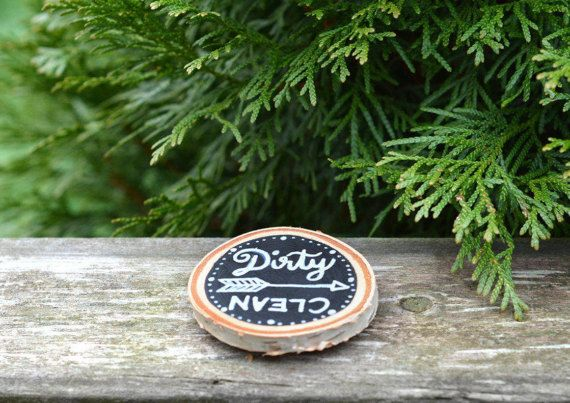 rustic dishwasher magnet // clean or dirty // kitchen