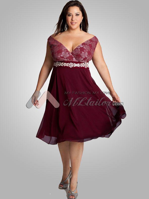 Wine colored plus size dresses