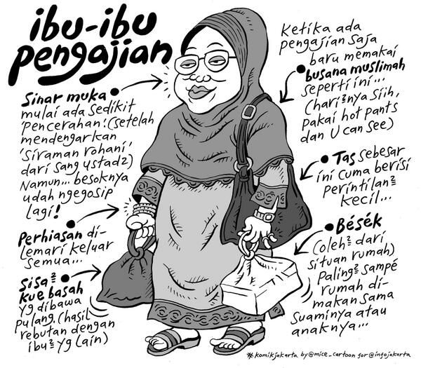 Ibu-ibu Pengajian #KomikJakarta @mice_cartoon