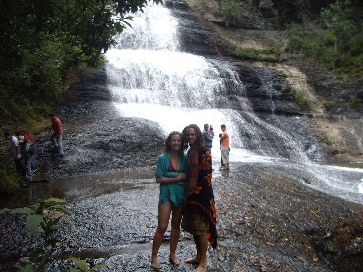 Enjoying the beauty of South America.