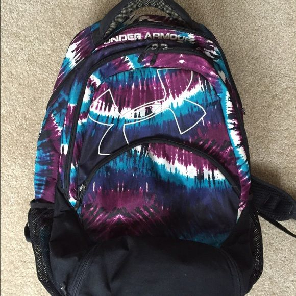 Under Armour book bag, back pack Tye dye, under armour book bag. Barely worn and in great conditions! All zippers work. Under Armour Bags Backpacks
