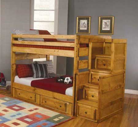 62 percent off discount kids bunk beds with amber finish wood