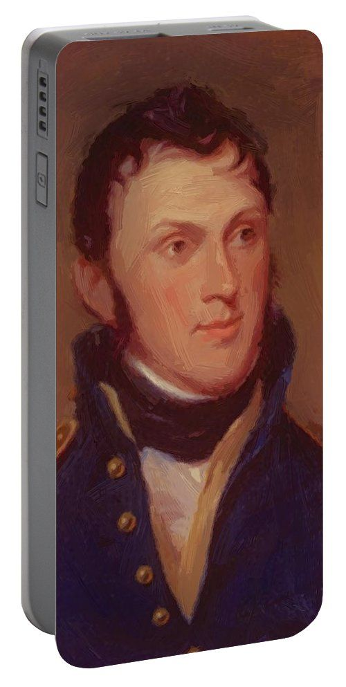 Stephen Portable Battery Charger featuring the painting Stephen Harriman Long 1819 by Peale Charles Willson