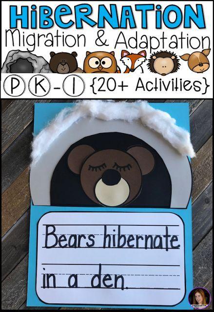 Hibernation, Migration and Adaptation Literacy Activities (PK-1)