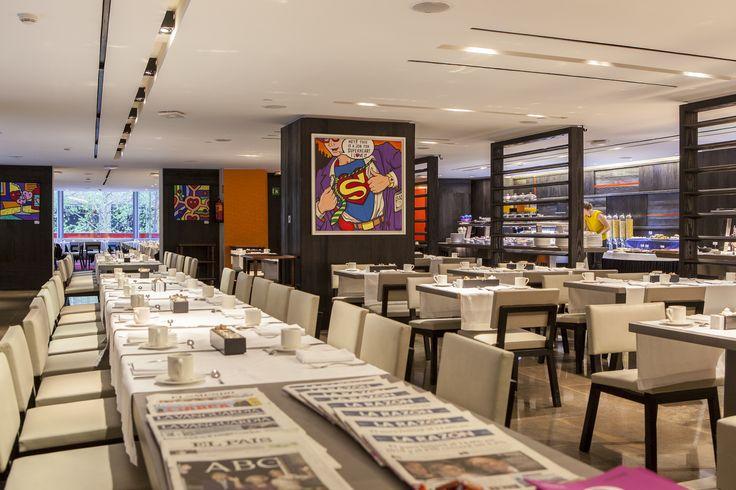 El Lágrimas Negras del Hotel Silken Puerta América es uno de los mejores restaurantes de Madrid. Carta inspirada en el chef 7* Michelin Martín Berasategui.